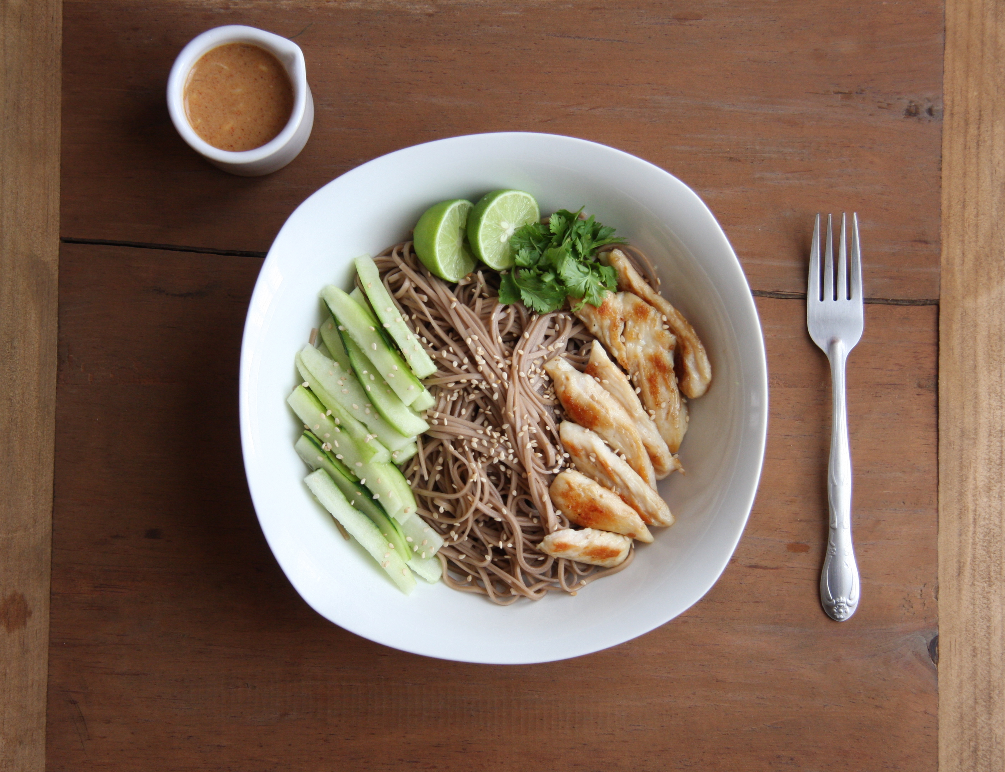 Chicken Soba Noodles with Spicy Peanut Sauce24 Carrot Life