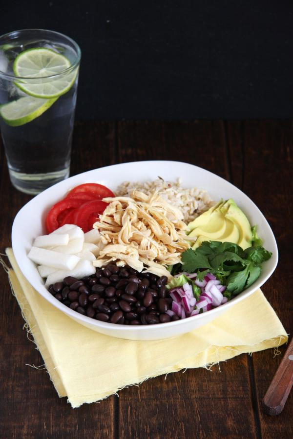 Chicken & Black Bean Burrito Bowls - 24 Carrot Life