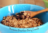 Healthy Microwave Mixed Berry Breakfast Crumble // 24 Carrot Life