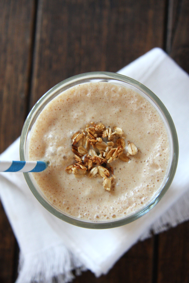 Copycat Juice Generation Peanut Butter Split Smoothie #vegan #healthy // 24carrotlife.com