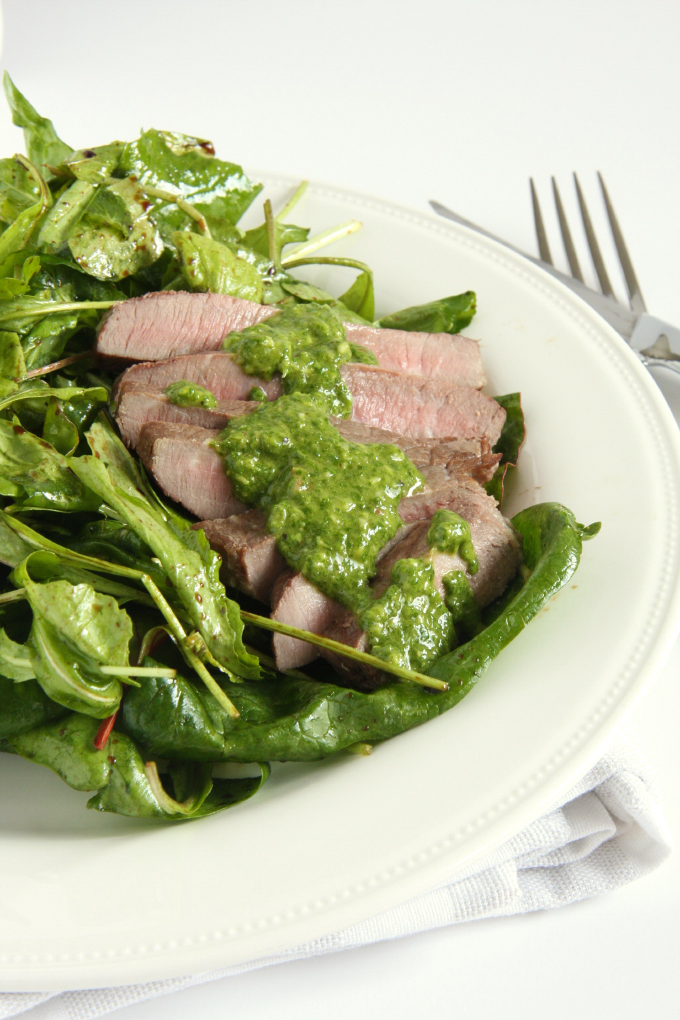 Steak Salad with Chimichurri Sauce - 24 Carrot Life